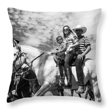 Brazilian Cowboys. A Family That Rides Throw Pillow