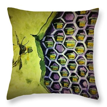 Brazilian Wax Distribution Throw Pillow