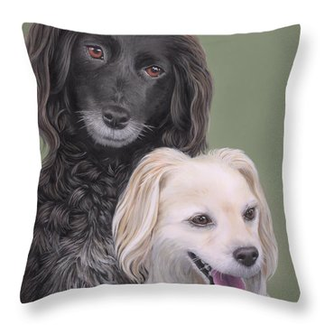 Throw Pillow featuring the painting Brea And Randy by Jane Girardot