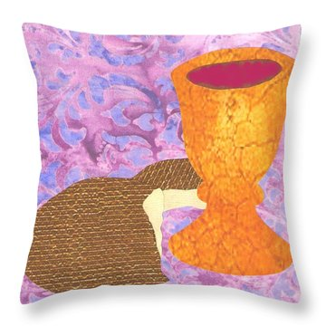Bread And Cup Throw Pillow