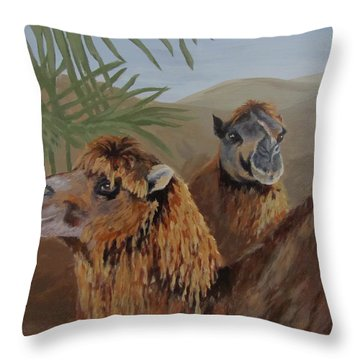 Throw Pillow featuring the painting Break Time by Karen Ilari