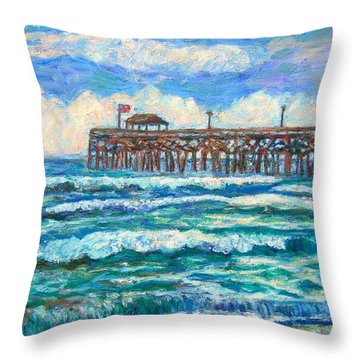Breakers At Pawleys Island Throw Pillow