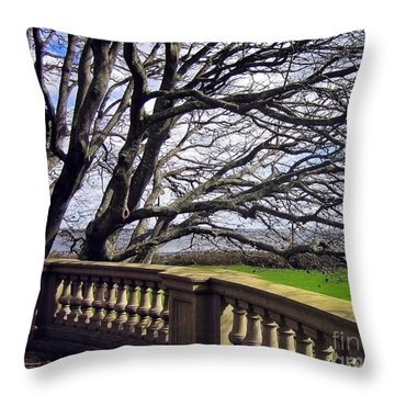 Breakers Mansion Tree Throw Pillow