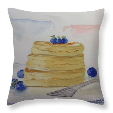 Breakfast Throw Pillow by Barbara Tibbets