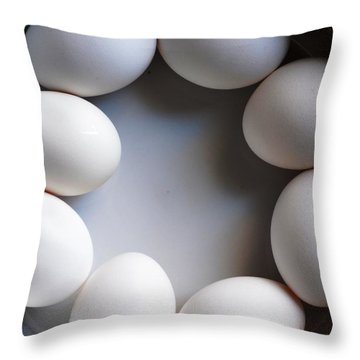 Breakfast Throw Pillow by Carlee Ojeda