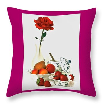 Throw Pillow featuring the photograph Breakfast For Lovers by Elf Evans