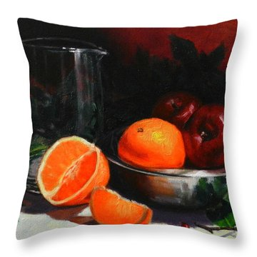 Breakfast Fruits Throw Pillow