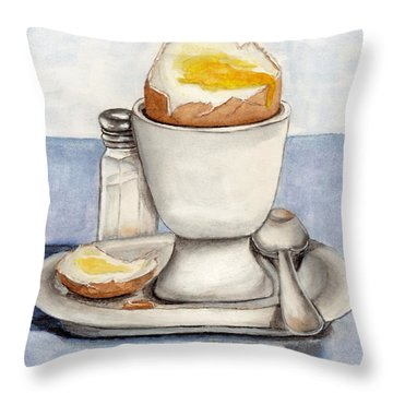 Breakfast Is Ready Throw Pillow by Kelly Mills