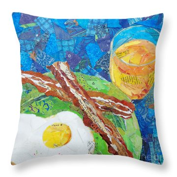 Breakfast Is Ready Throw Pillow