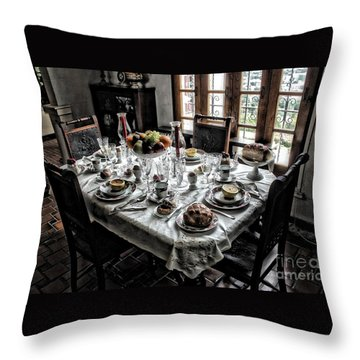 Downton Abbey Breakfast Throw Pillow