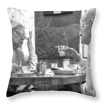 Breakfast Ladies Throw Pillow