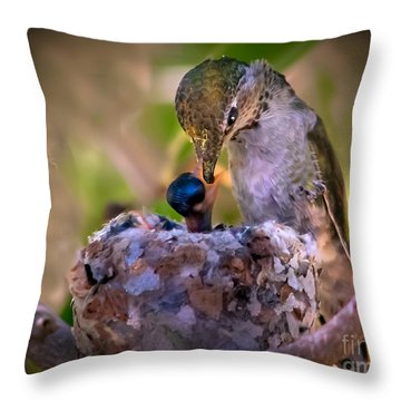Breakfast Throw Pillow by Robert Bales