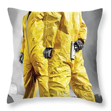 Breaking Bad Artwork Throw Pillow by Sheraz A