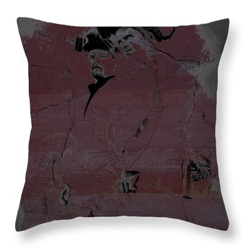Throw Pillow featuring the digital art Breaking Bad Concrete Wall by Brian Reaves