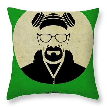 Breaking Bad Poster Throw Pillow by Naxart Studio