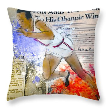 Breaking Barriers Throw Pillow