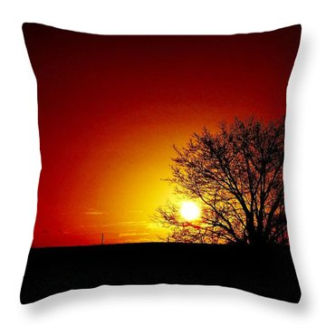 Breaking Dawn Throw Pillow by Amar Sheow