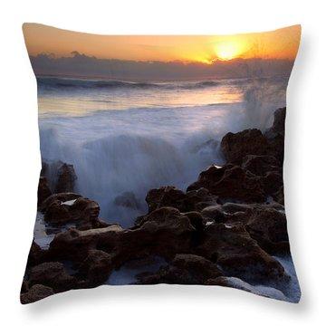 Breaking Dawn Throw Pillow by Mike  Dawson