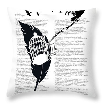 Breaking Free Throw Pillow