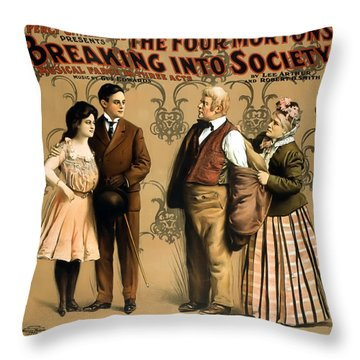 Breaking Into Society Throw Pillow by Terry Reynoldson