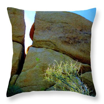 Breaking News - Rock Group Splits Throw Pillow by Randall Weidner