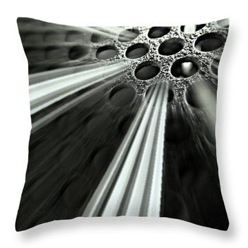 Breaking Out Throw Pillow by Clare Bevan