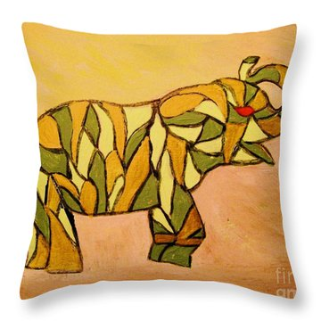 Throw Pillow featuring the painting Breaking The Chain Limited Edition Prints 1 Of 20 by Donna Dixon