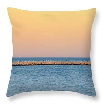 Breaking The Sunset Throw Pillow
