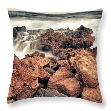 Breaking The Waves Throw Pillow by Stelios Kleanthous