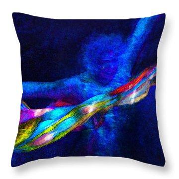 Breaking Through Throw Pillow by Jane Schnetlage