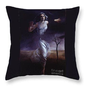 Breaking Through Throw Pillow by Jane Whiting Chrzanoska
