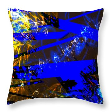 Throw Pillow featuring the digital art Breaking Through by Lena Wilhite