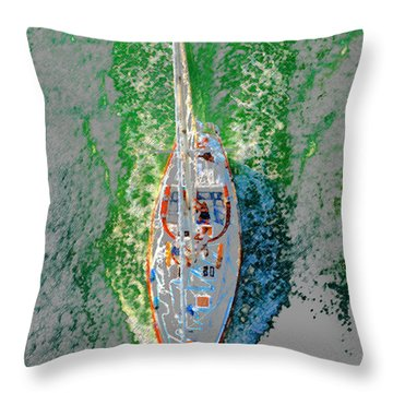 Breaking Water Throw Pillow by David Lee Thompson
