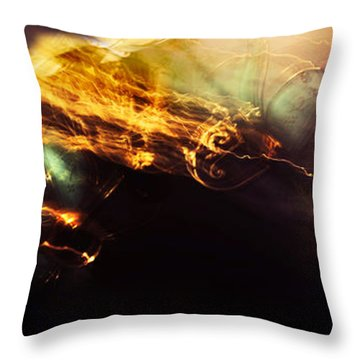 Breakthrough. Empowered By Light Throw Pillow by Jenny Rainbow