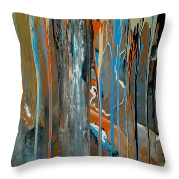 Breakthrough Throw Pillow by Kelly Turner