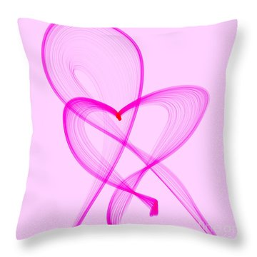 Breast Cancer Awareness . Love Throw Pillow by Renee Trenholm
