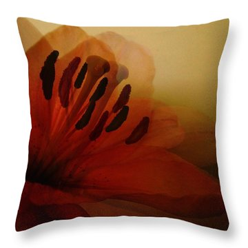 Breath Of The Lily Throw Pillow