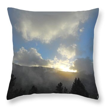 Breath Of Winter Throw Pillow