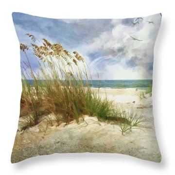 Throw Pillow featuring the photograph Breathe by Linda Blair