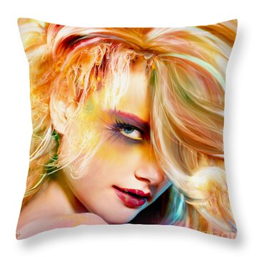 Breathing Underwater Amphibious Me Throw Pillow
