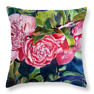Breathtaking Blossoms Throw Pillow by Mohamed Hirji