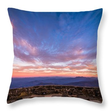 Breathtaking Blue Ridge Sunset 2 Throw Pillow by Serge Skiba