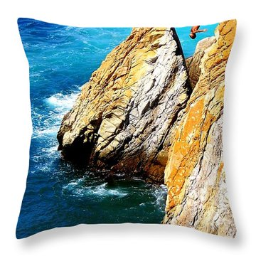 Breathtaking Free Fall Throw Pillow by Karen Wiles