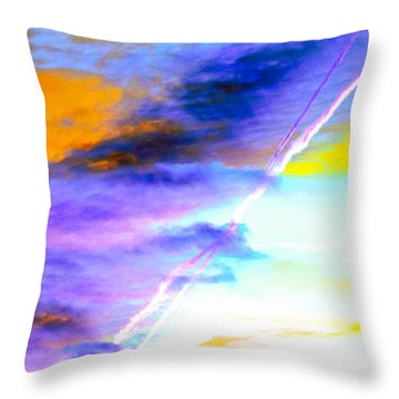 Breathtaking Sky Color Palette  Throw Pillow