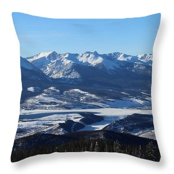 Breathtaking View Throw Pillow by Fiona Kennard