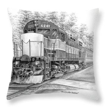 Brecksville Station - Cuyahoga Valley National Park Throw Pillow