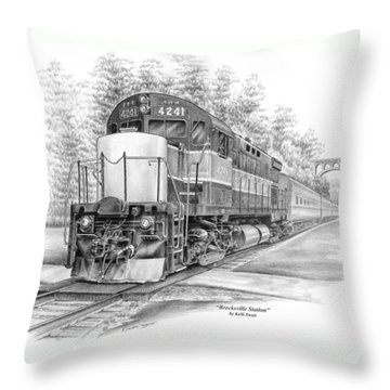 Brecksville Station - Cuyahoga Valley National Park Throw Pillow by Kelli Swan