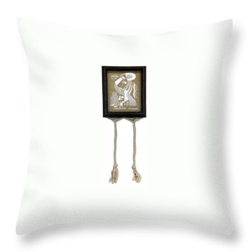 Throw Pillow featuring the painting Breeze by Fei A