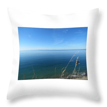 Breeze In Blue Throw Pillow