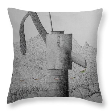 Breezing Into Blooms Throw Pillow by A  Robert Malcom